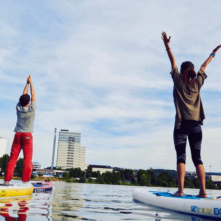 Foto: SUP-Kurs und SUP-Yoga in Koblenz auf der Mosel
